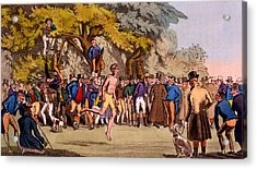 The Hopping Match On Clapham Common Acrylic Print by English School