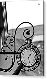 The Horologists Sign Acrylic Print by Gabor Fichtacher