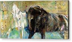 The Horse As Art Acrylic Print by Frances Marino