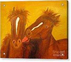 The Horse Kiss - Original Oil Painting Acrylic Print
