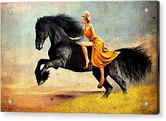 The Horsewoman Acrylic Print by Rick Buggy