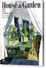 The Horsts Garden Acrylic Print by Horst P. Horst