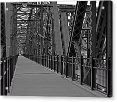 The Hot Metal Bridge In Pittsburgh Acrylic Print