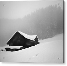 Acrylic Print featuring the photograph The House In The Mountain by Antonio Jorge Nunes