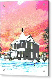 The House Of Haunted Hill Acrylic Print by Jimi Bush