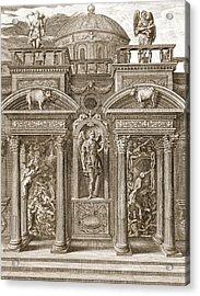 The House Of Sleep, 1731 Acrylic Print by Bernard Picart