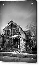 The House Of Soul At The Heidelberg Project - Detroit Michigan - Bw Acrylic Print