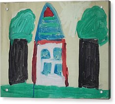 The House With No Door-age 5 Acrylic Print by MIchael Kelly