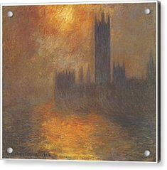 The Houses Of Parliament Sunset Acrylic Print by Claude Monet