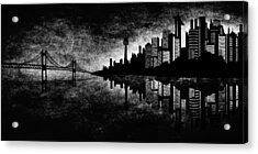 The Hubris Of Mankind Bw Acrylic Print by Angelina Vick