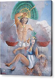 The Huey Tlatoni Or Emperor And Wife Acrylic Print