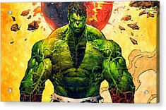 The Hulk Acrylic Print by Florian Rodarte