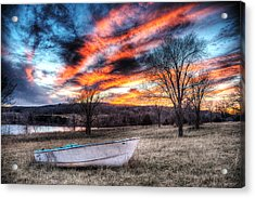 The Humble Boat Acrylic Print by William Fields