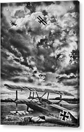 The Hunter Bw Acrylic Print by Peter Chilelli