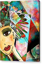 The Huntress Acrylic Print by Angelica Smith Bill