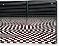The Hypnotic Floor Acrylic Print by Gilbert Claes