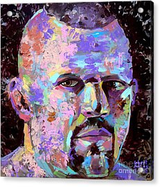 Acrylic Print featuring the painting The Iceman Chuck Liddell by Robert Phelps