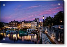 The Iconic Richmond By The River Acrylic Print by Leigh Cousins