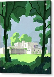 The Ideal House In House And Gardens Acrylic Print by Witold Gordon