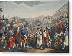 The Idle Prentice Executed At Tyburn Acrylic Print by William Hogarth