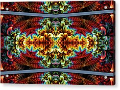 Acrylic Print featuring the digital art The Illusion Of Depth by Lea Wiggins