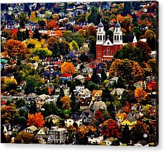 The Immaculate Conception Church Of Seattle Acrylic Print by Benjamin Yeager