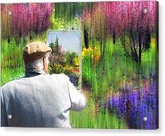 The Impressionist Painter Acrylic Print by Jessica Jenney