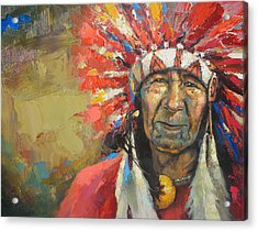 The Indian Chief Acrylic Print by Dmitry Spiros