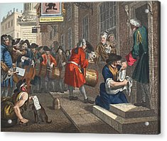The Industrious Prentice Acrylic Print by William Hogarth