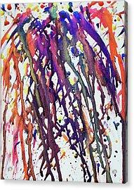 The Inebriated Cyclical Phoenix Acrylic Print by Donovan Hubbard