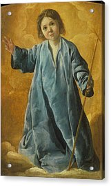 Acrylic Print featuring the painting The Infant Christ by Francisco de Zurbaran