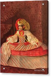 Acrylic Print featuring the painting The Infant Margarita by Randol Burns