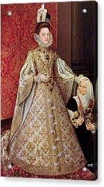 The Infanta Isabel Clara Eugenia 1566-1633 With The Dwarf, Magdalena Ruiz, C.1580 Oil On Canvas Acrylic Print