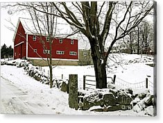 The Inn Acrylic Print by Laura Mace Rand