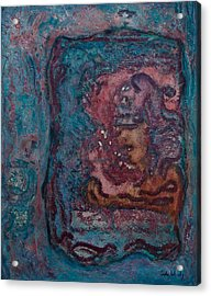 Acrylic Print featuring the mixed media The Inner Chamber by Carla Woody