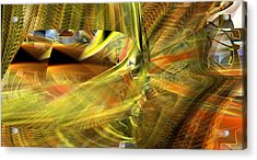 Acrylic Print featuring the digital art The Inner Workings by rd Erickson