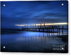 The Innocent White In Blue Acrylic Print