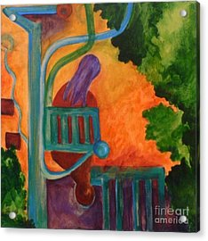Acrylic Print featuring the painting The Inspiration- Caprian Beauty Series 2 by Elizabeth Fontaine-Barr