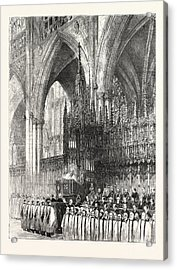 The Installation By The Dean And Chapter In York Minster Acrylic Print by English School