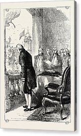The Installation Of George Washington, United States Acrylic Print by American School