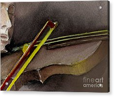 Acrylic Print featuring the painting The Instrument  by Allison Ashton