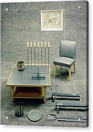 The Interior Design Of A Gray Living Room Acrylic Print