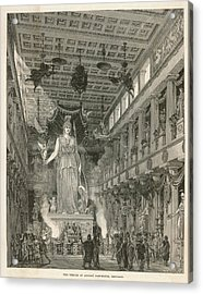 The Interior Of The Parthenon,  Or Acrylic Print by Mary Evans Picture Library