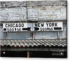 The Intersection II Acrylic Print by Michael Krek