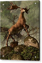 The Irish Elk Acrylic Print