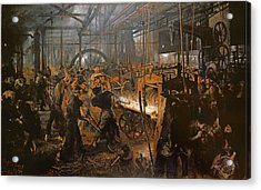 The Iron-rolling Mill Oil On Canvas, 1875 Acrylic Print