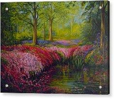The Isabella Plantation Acrylic Print by Janet Silkoff