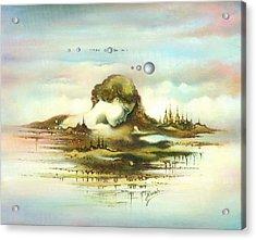 The Island Acrylic Print by Anna Ewa Miarczynska
