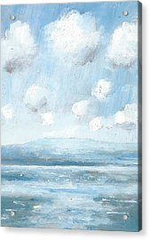The Isle Of Wight From Portsmouth Part Seven Acrylic Print by Alan Daysh