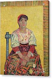 The Italian  Agostina Segatori Acrylic Print by Vincent Van Gogh